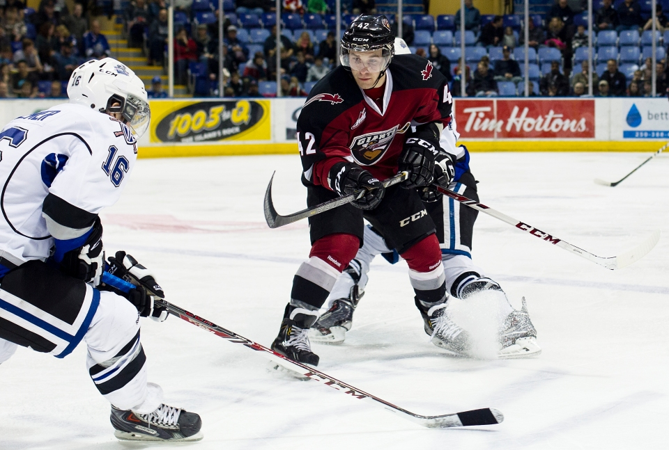 Carter Popoff 42 centre Vancouver Giants