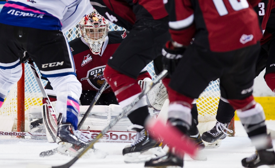 Jared Rathjen 33 Vancouver Giants Goaltender