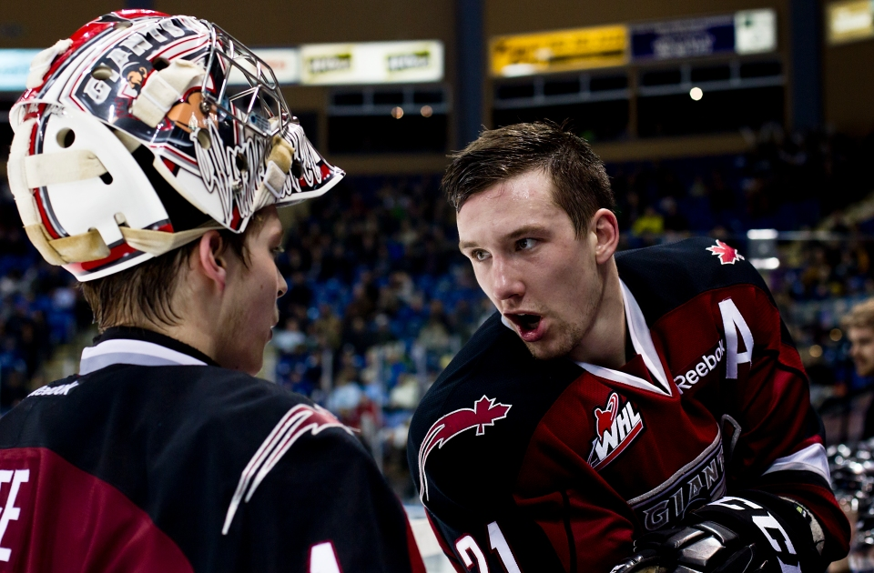 Tim Traber 21 right wing Vancouver Giants
