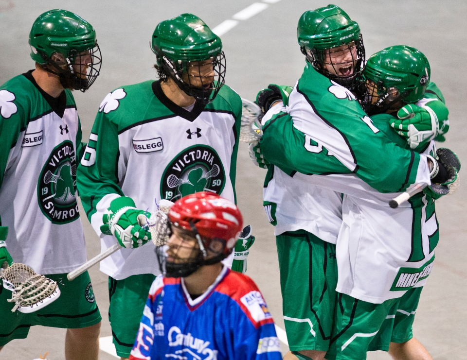 In game three the Shamrocks once again took control and is was Corey Small who decided to turn the screws to Peterborough. Small recorded five goals and three assists to pace the Shamrocks to a lopsided 14-8 win and a 2-1 best-of-seven series lead.