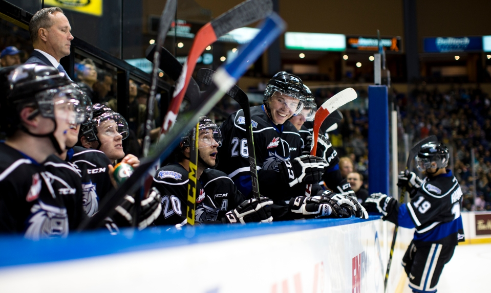Victoria Royal Matt Dykstra is all smiles as the Royals beat the Winterhawks 4-1.