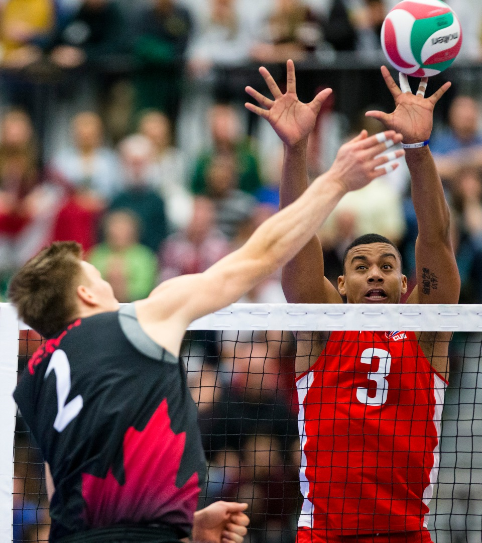 0006 Men Volleyball NORCECA Continental Olympic Qualification Tournament Edmonton January 10, 2016 ©KevinLightPhoto ©KevinLightPhoto _31Q1868