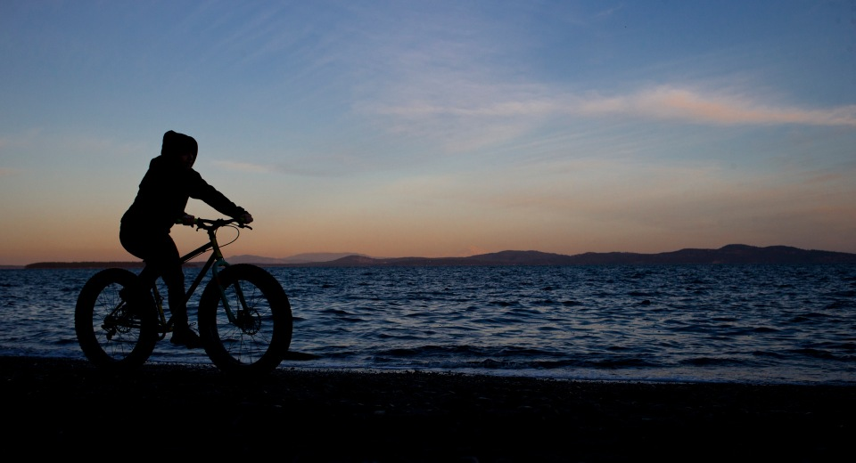 bike mountain fat tire silouette ocean Photo © Kevin Light 0005