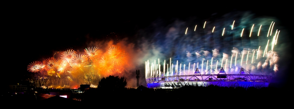 Opening ceremonies of the 2012 London Olympic Games.