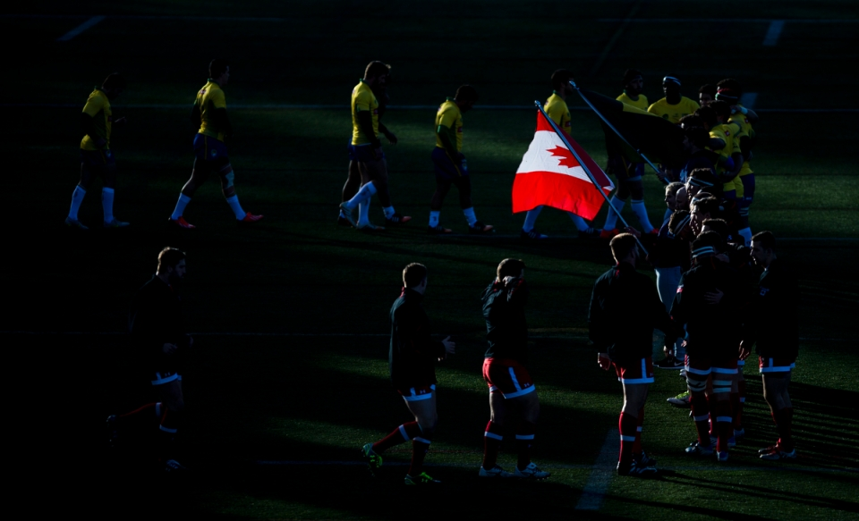 Canadian and Brazilian National Anthems at the Americas Rugby Championship Kevin Light Photo