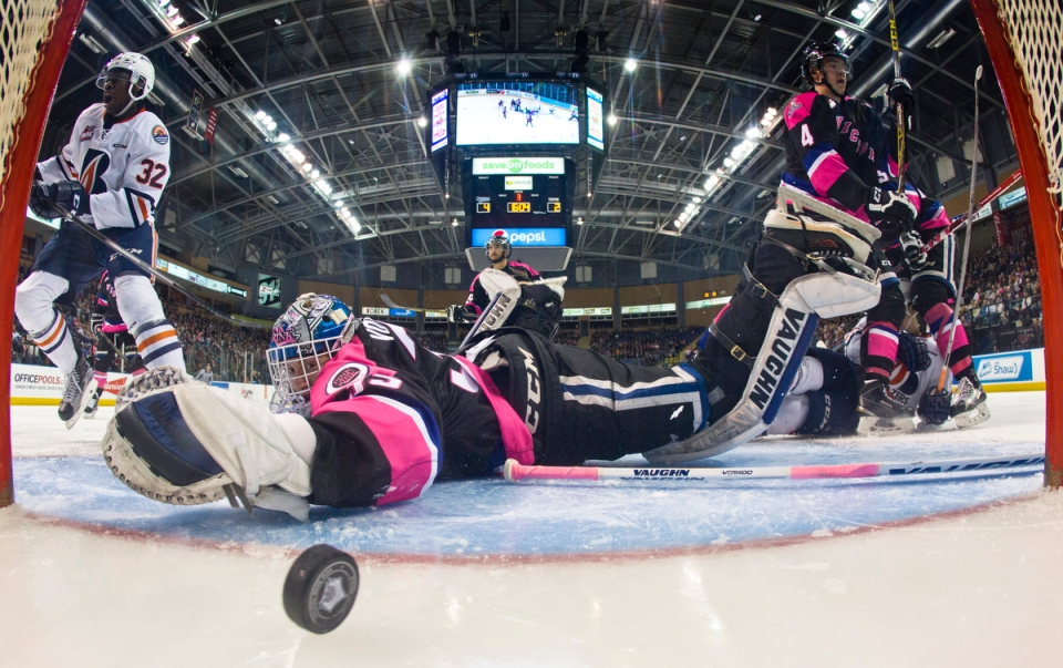 Victoria Royals goaltender Colman Vollrath Kevin LIght Photo