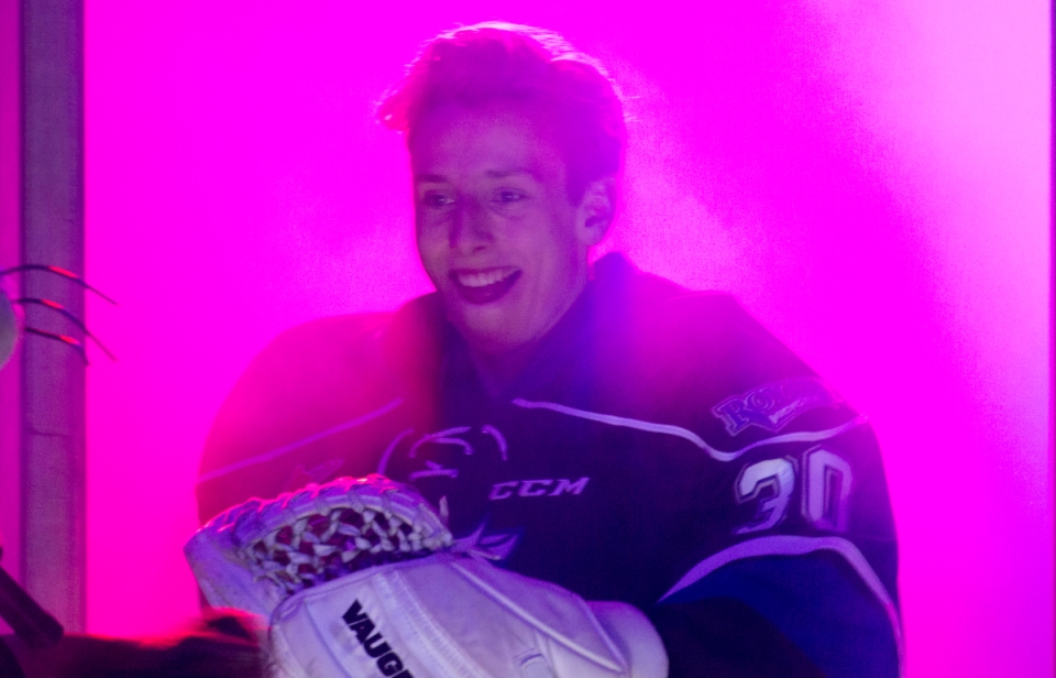 Victoria Royals goaltender Griffen Outhouse KEVIN LIGHT PHOTO