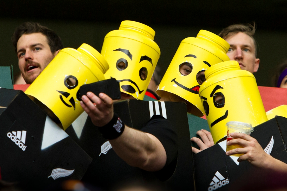 New Zealand Rugby fans dressed as Lego characters © Kevin Light PhotoMPXMarKRL2 d