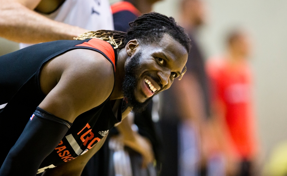 DeMarre Carroll of the NBA Toronto Raptors Training Camp Vancouver