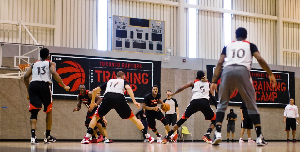 Kyle Lowry of hte NBA Toronto Raptors Training Camp Vancouver