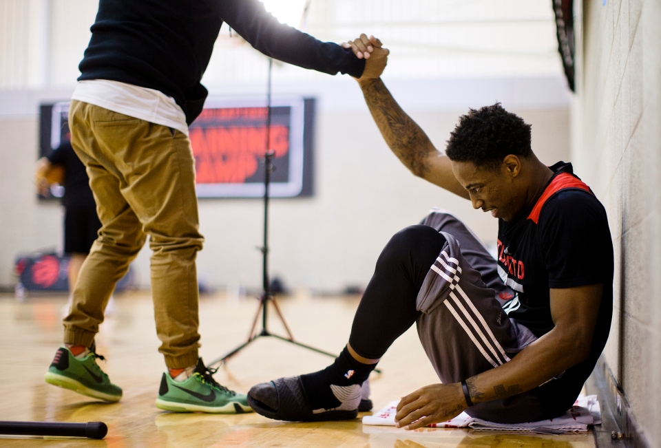 DeMar DeRozan of the NBA Toronto Raptors Training Camp Vancouver