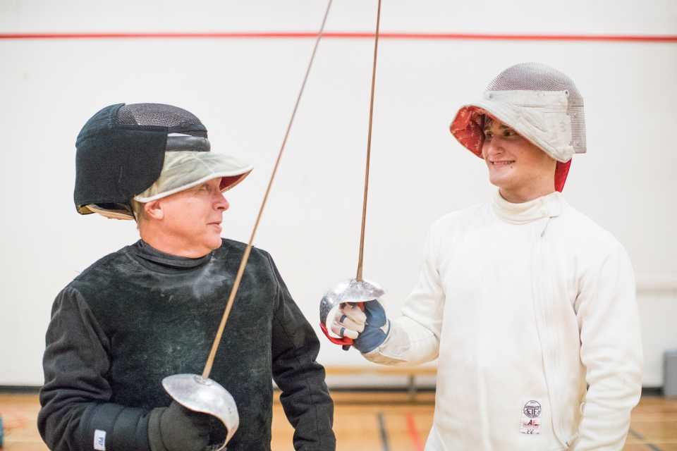 15 Hunter Moricz Zbigniew Pietrusinski Fencing CBC Petro Canada The Bond Kevin Light Photo