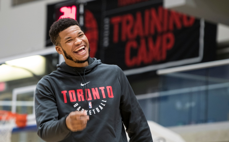 2 Toronto Raptors NBA Basketball Training camp Victoria Canada Kennedy Meeks ©Kevin Light Photo