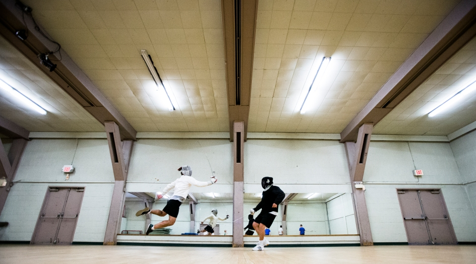 9 Hunter Moricz Zbigniew Pietrusinski Fencing CBC Petro Canada The Bond Kevin Light Photo