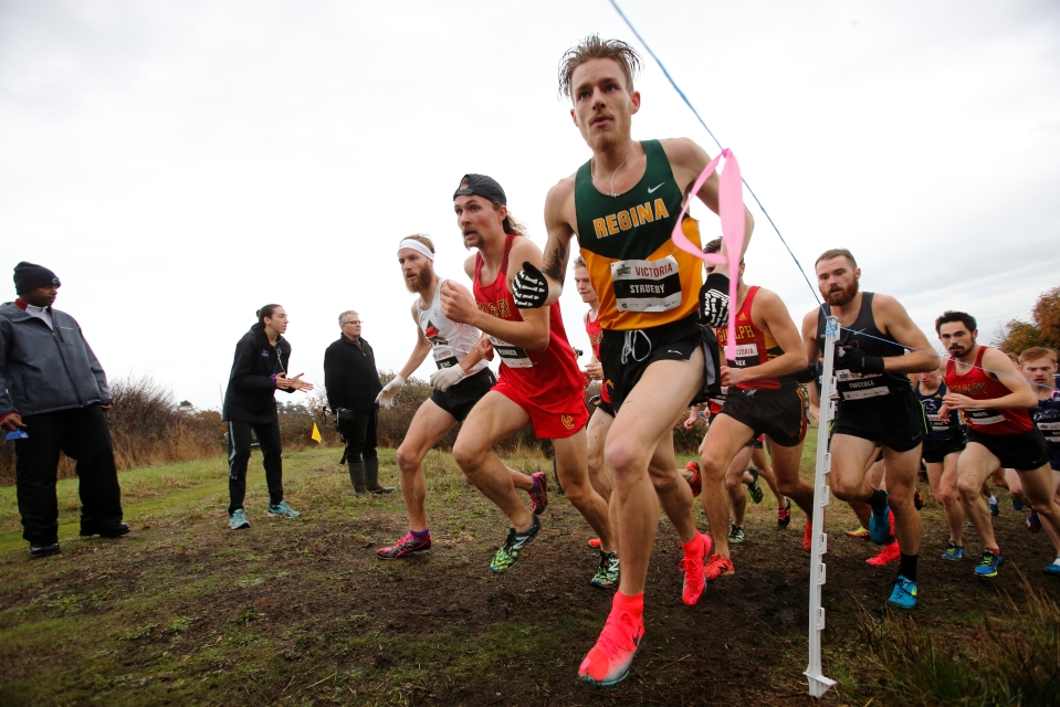 14 Adam Strueby University of Regina Russell Pennock University of Calgary Dany Racine Universite Laval U SPORTS Cross-Country running Championships ©Kevin Light Photo 14