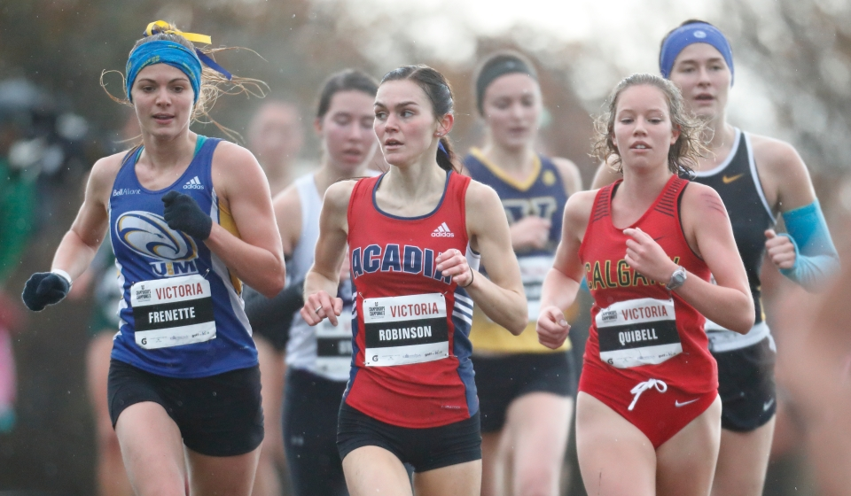 4 Kamylle Frenette Universite de Moncton Katie Robinson Acadia University U SPORTS Cross-Country running Championships ©Kevin Light Photo 04