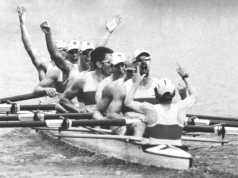 Canadian Olympic Gold medal rowing team Brian Price Kyle Hamilton Dominic Seiterle Jake Wetzel Malcolm Howard Ben Rutledge Andrew Byrnes Kevin Light MIke Spracklen - Kevin Light Photogr